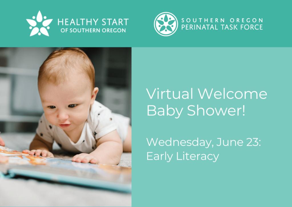 virtual baby shower literacy