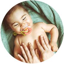 Infant massage techniques for digestion
